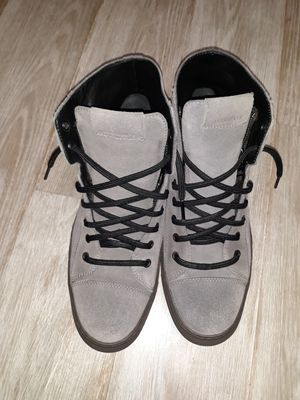 Men All Saints Grey Suede Sneakers size 9 for Sale in Queens, NY
