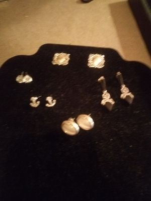 Sterling silver earrings/stud mix for Sale in Northumberland, PA