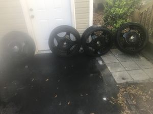 "4 22"" Black Rims x 3 low pro tires for Sale in Philadelphia, PA"
