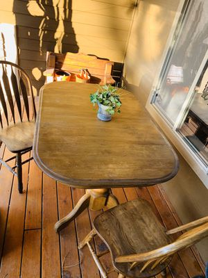 Solid Wood Table and 2 Chairs for Sale in Bend, OR