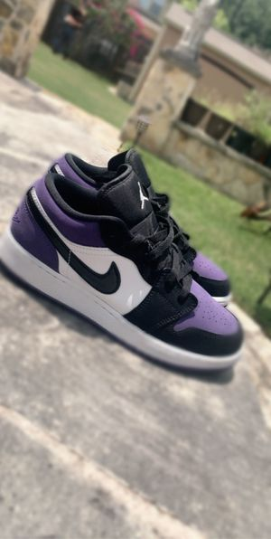 Jordan 1 low court purples 🥶 for Sale in Austin, TX