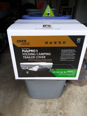 Overdrive classic accessories polypro 3 folding camper trailer cover for Sale in Canal Winchester, OH