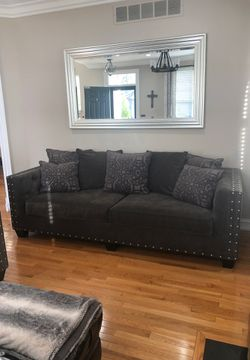 Sofa couch loveseat sectional gray grey set for Sale in West Bloomfield Township,  MI