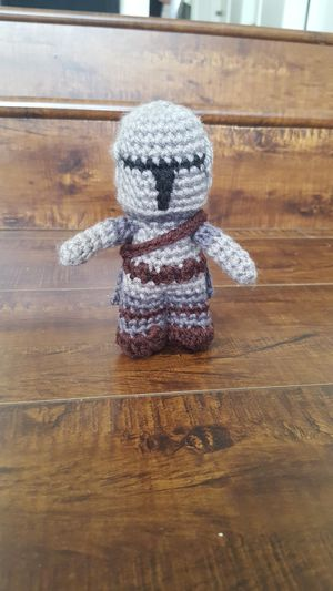 Large Mandalorian crochet doll for Sale in Cypress, CA