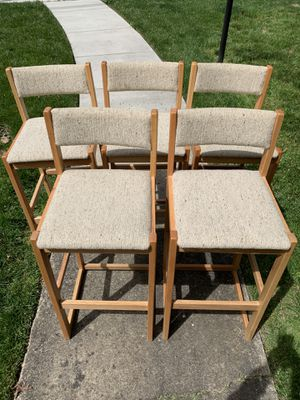 Vintage Whitaker Furniture Wooden Barstools 1970s Chairs for Sale in Washington, DC