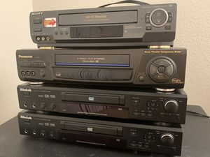 VHS and DVD players bundle for Sale in Corona, CA