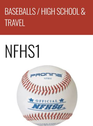 (Single) NFHS1 Pro Nine Baseballs, High School & Travel with Nations Baseball Logo for Sale in Cypress, TX