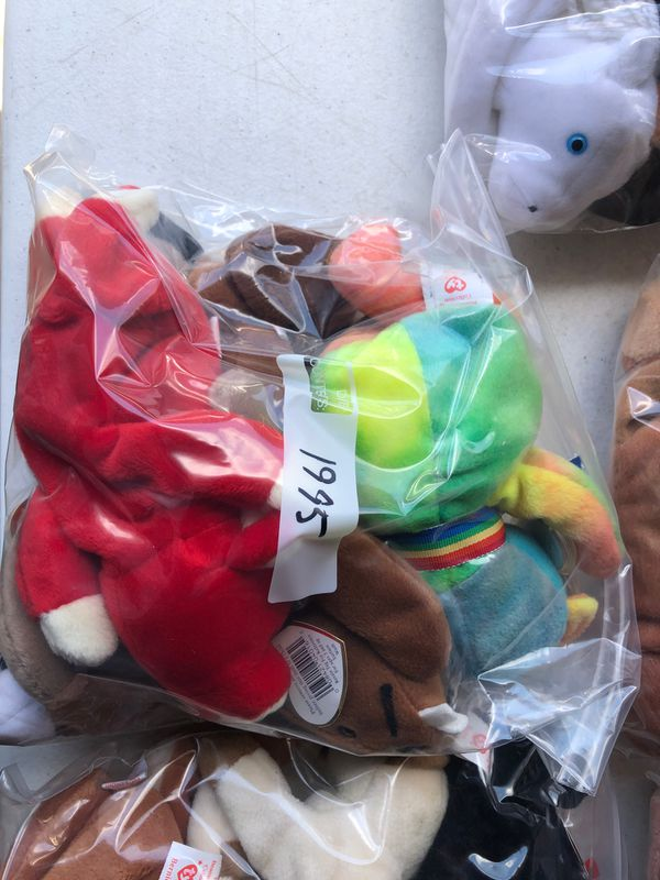 Beanie Babie Lot. Years from 1994-2004 over 50