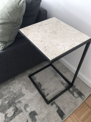 Solid travertine end table for Sale in New York, NY