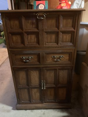 Bar cabinet 48 inch tall, 28 wide and 16 deep. for Sale in San Leandro, CA