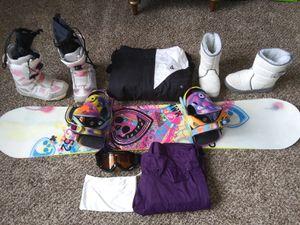 Snowboard starter package - HUGE VALUE for Sale in Philadelphia, PA