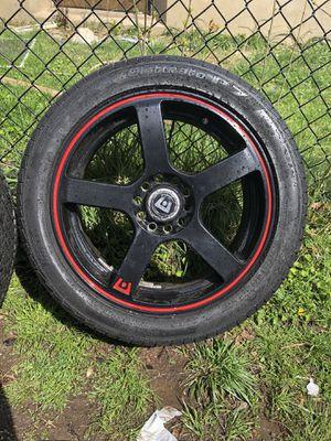 "17"" Universal Black & Red Motegi Racing Rims for Sale in Hartford, CT"