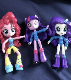 """Hasbro My Little Pony Equestria Girls Minis 4.5 """" Doll Lot Of 3 for Sale in Providence,  RI"""