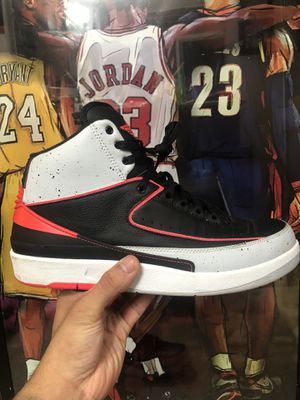 64cc1b1b726bc7 Air Jordan 2 Retro Infrared Black Cement Basketball Shoes Size 11 for Sale  in Lake Forest