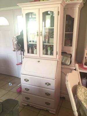 pink secretary desk with drawers for Sale in Long Beach, CA