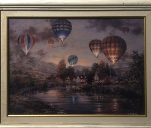 Nicky Boehme Hot Air Balloon painting for Sale in Westland, MI