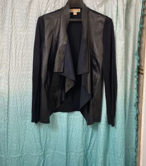 Michael Kors Faux Leather Cardigan for Sale in South Amboy, NJ