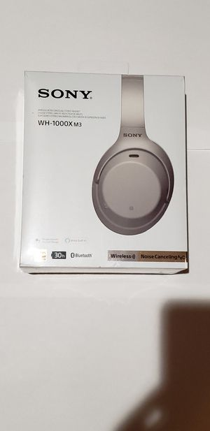 BRAND NEW, SEALED BOX Sony WH-1000XM3 Wireless Noise Canceling HEADPHONES-SILVER for Sale in Chicago, IL