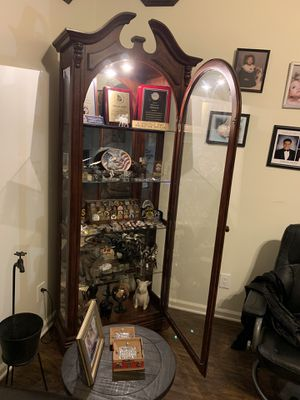 Curio cabinet Cherry wood for Sale in Fayetteville, GA