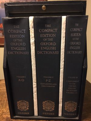 Compact Edition of The Oxford English Dictionary for Sale in Wheaton, IL