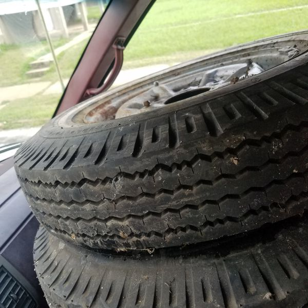 Bridgestone 6.0 /14 white wall tires old but brand new
