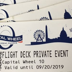 The Capital Wheel Flight Deck Private Event Tickets for Sale in Falls Church, VA