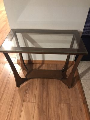 Mid century modern project glass top console or sofa table for Sale in Carmichael, CA