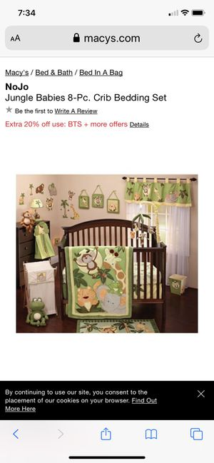 NoJo Jungle Babies 8-Pc. Crib Bedding Set & More.... for Sale in Plainview, NY