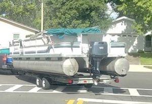 Pontoon Boat w/ Trailer for Sale in Sanford, FL