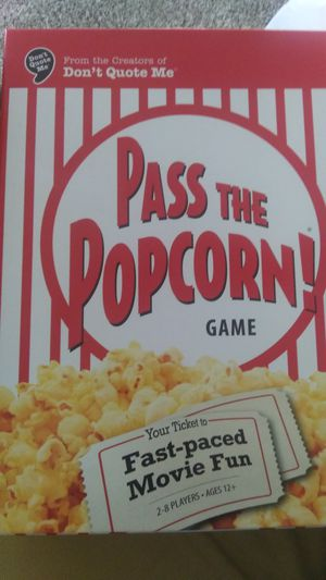 New Pass the Popcorn Board Game for Sale in Chula Vista, CA