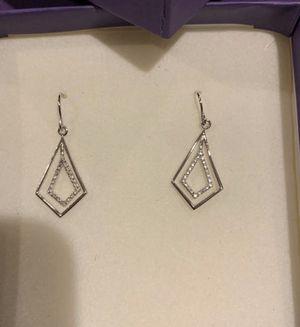 .03twt Diamond Earrings, sterling silver. Brand New for Sale in Delray Beach, FL