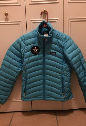 Woman's Patagonia sky blue light goose down for Sale in South Miami, FL