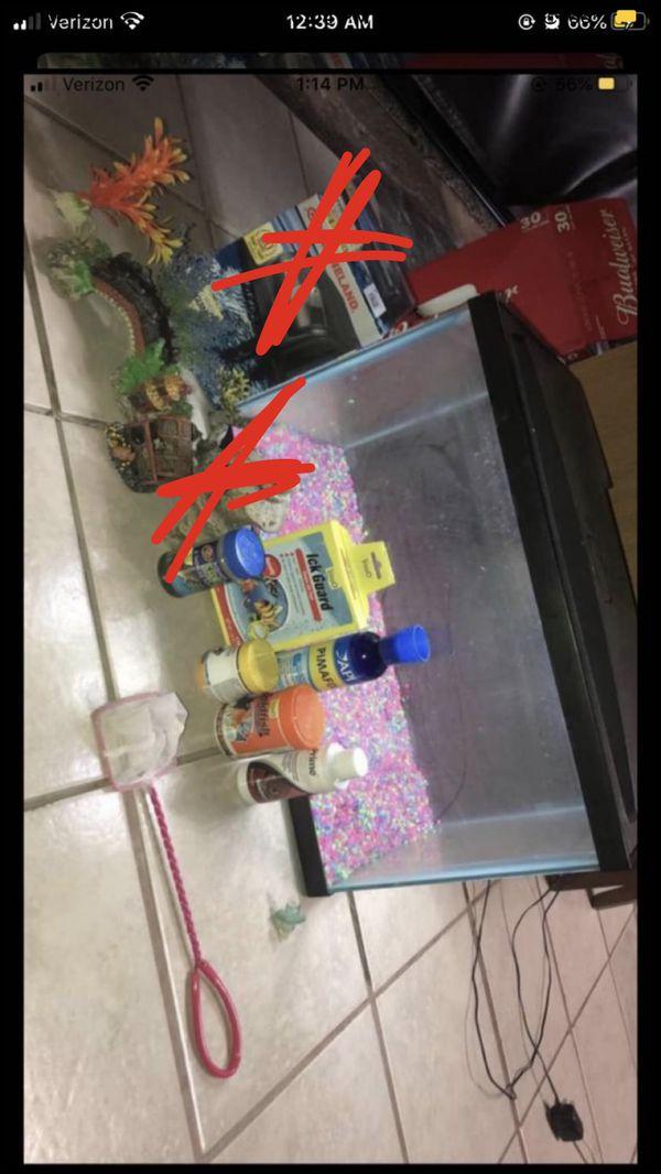 New fish tank & supplies