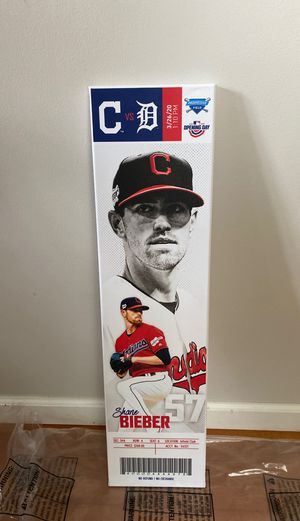 New Shane Bieber Cleveland Indians Mega Ticket for Sale in Westlake, OH