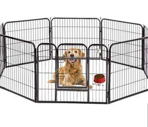 "BestPet 32""H Black 8 Panel Heavy Duty Pet Playpen Dog Exercise Pen Cat Fence for Sale in El Monte,  CA"