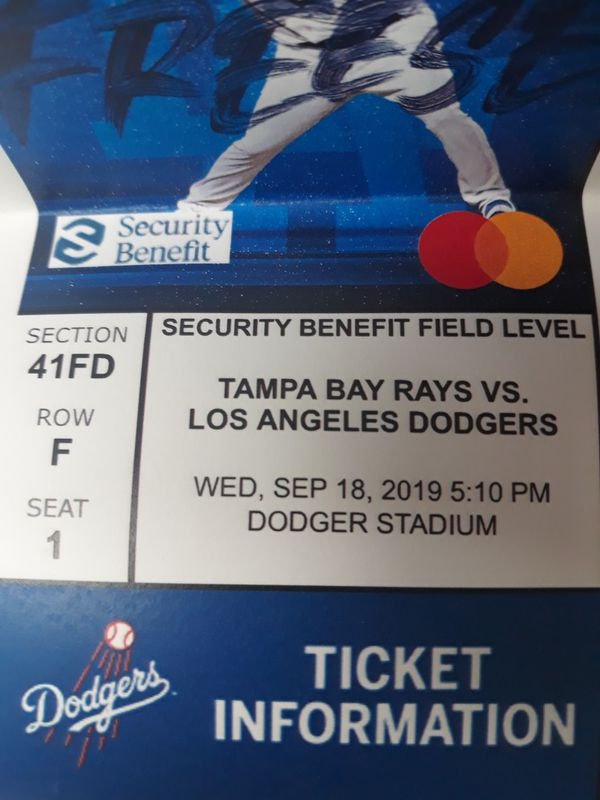 Dodgers game tickets