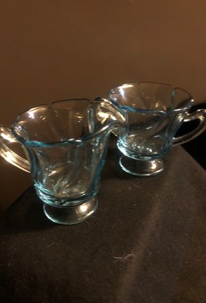 Light blue creamer an sugar set for Sale in Sterling, KS