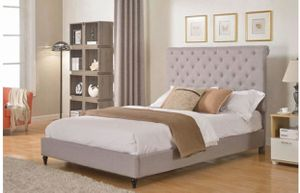 Gray headboard and bed frame for full bed for Sale in Los Angeles, CA