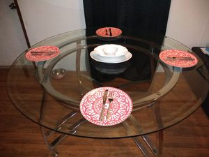 Glass dining table. Without chairs for Sale in Weatherford, TX
