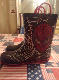 Kids size 4 Spider Man rain boots for Sale in Philadelphia,  PA