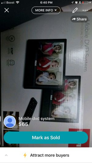 Mobile dvd system for car for Sale in Nashville, TN
