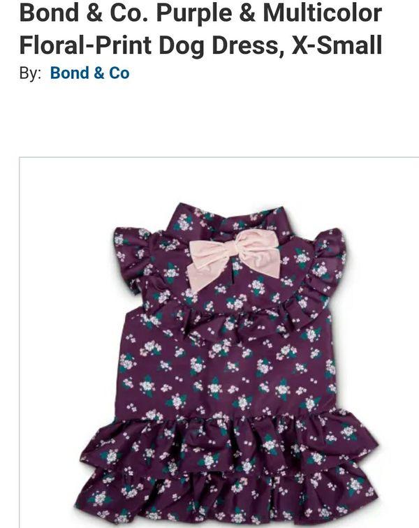 Bond & Co. Purple & Multicolor Floral-Print Dog Dress, Medium