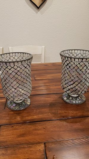 2 Candle holder, stained glass for Sale in Turlock, CA