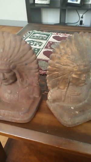 Antique American Indian book ends for Sale in New Bedford, MA