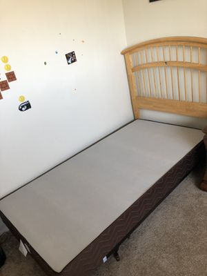 Bed frame, box spring and headboard for Sale in Imperial Beach, CA