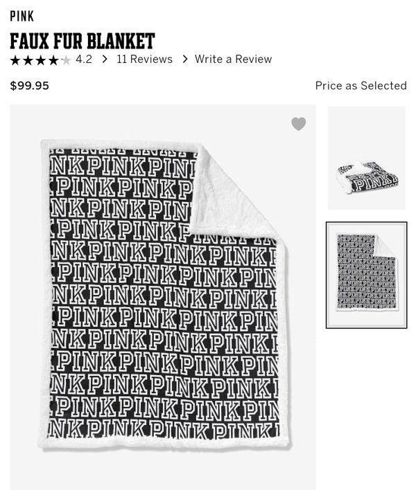 Pink Faux Fur Blanket