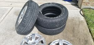 Bridgestone tires jeep wheels for Sale in Spring, TX