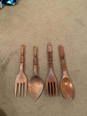 "12"" Wooden fork ñ Spoon lot of 4 for Sale in Monroeville, PA"