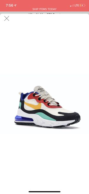 NIKE AIR MAX REACT & 270s all shoes size 10 for Sale in Lawrenceville, GA