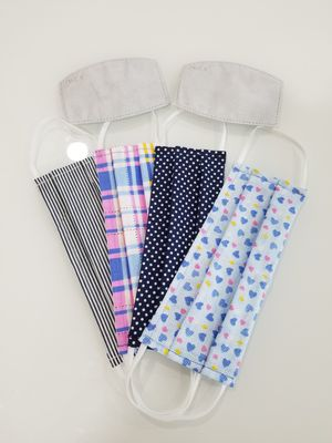 4FOR$20 HANDMADE cotton fabric face mask for Sale in San Jose, CA
